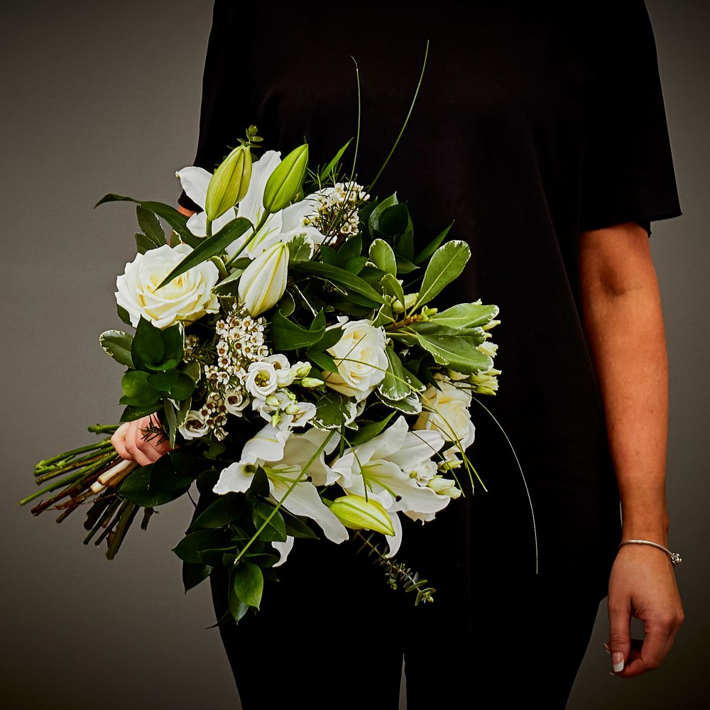 Simply White Hand Tied Arbour Blooms
