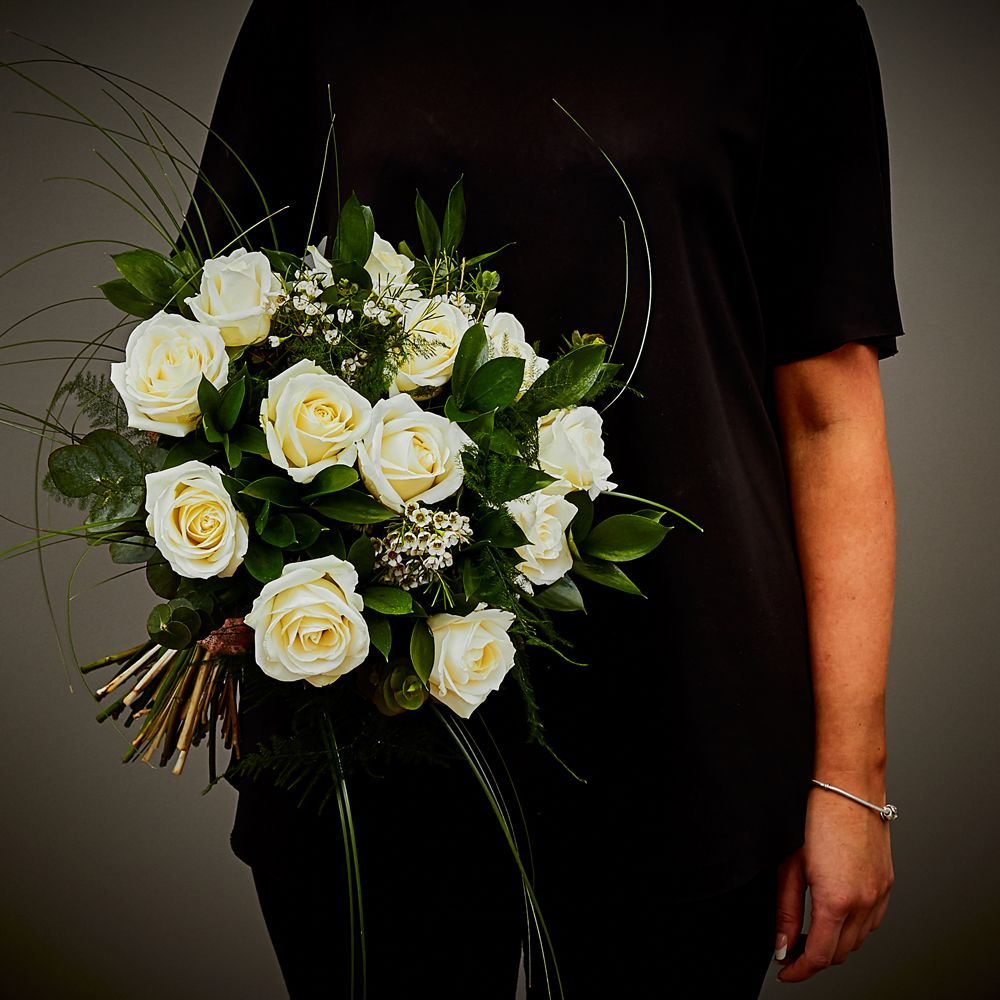 White Rose Hand Tied Arbour Blooms
