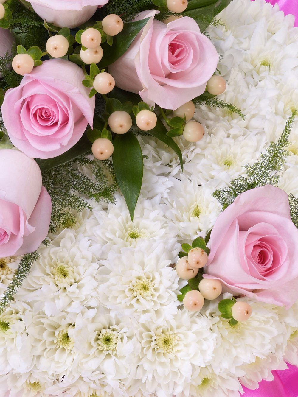 Pink And White Posy 1