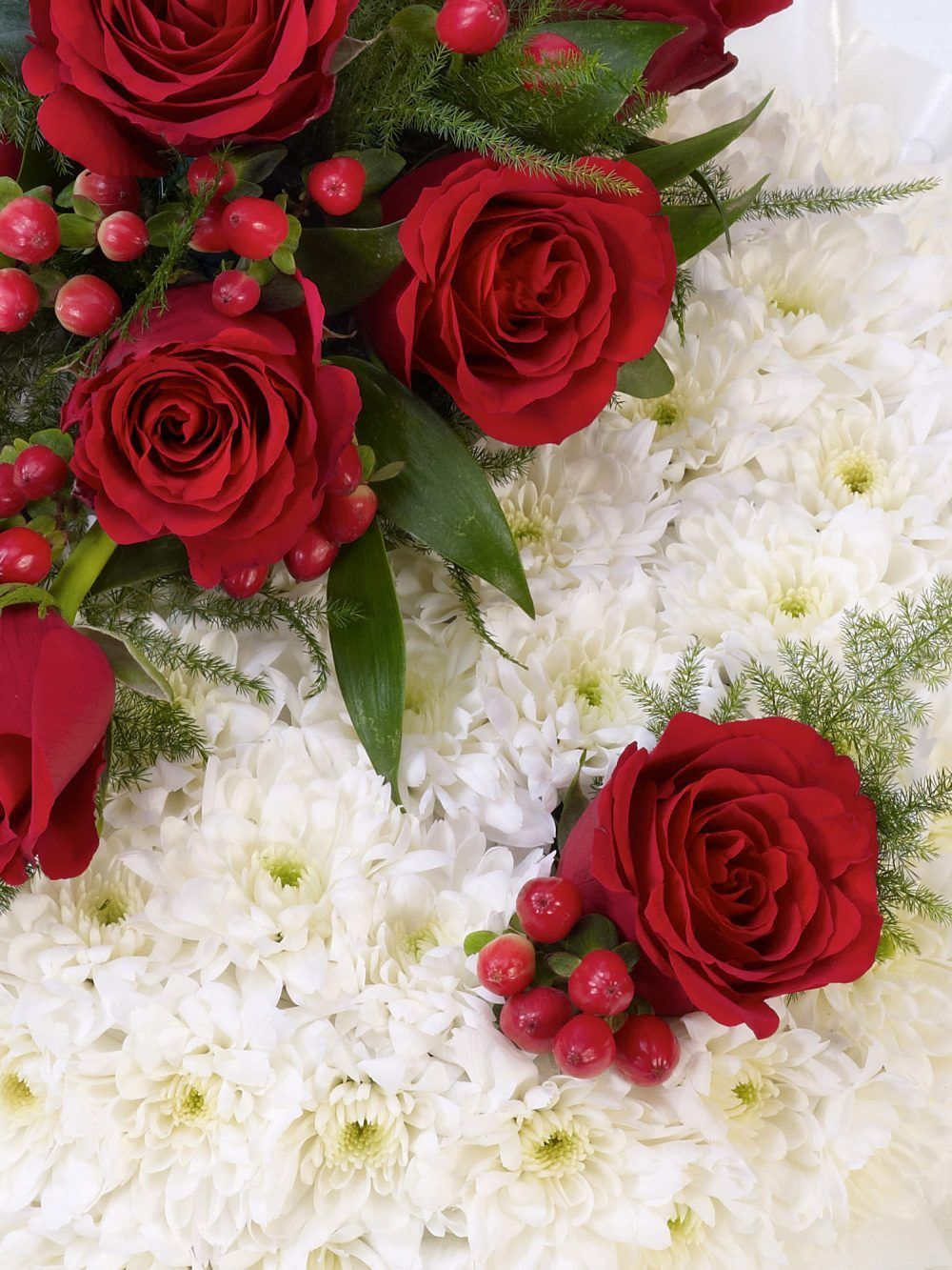 Red And White Posy1