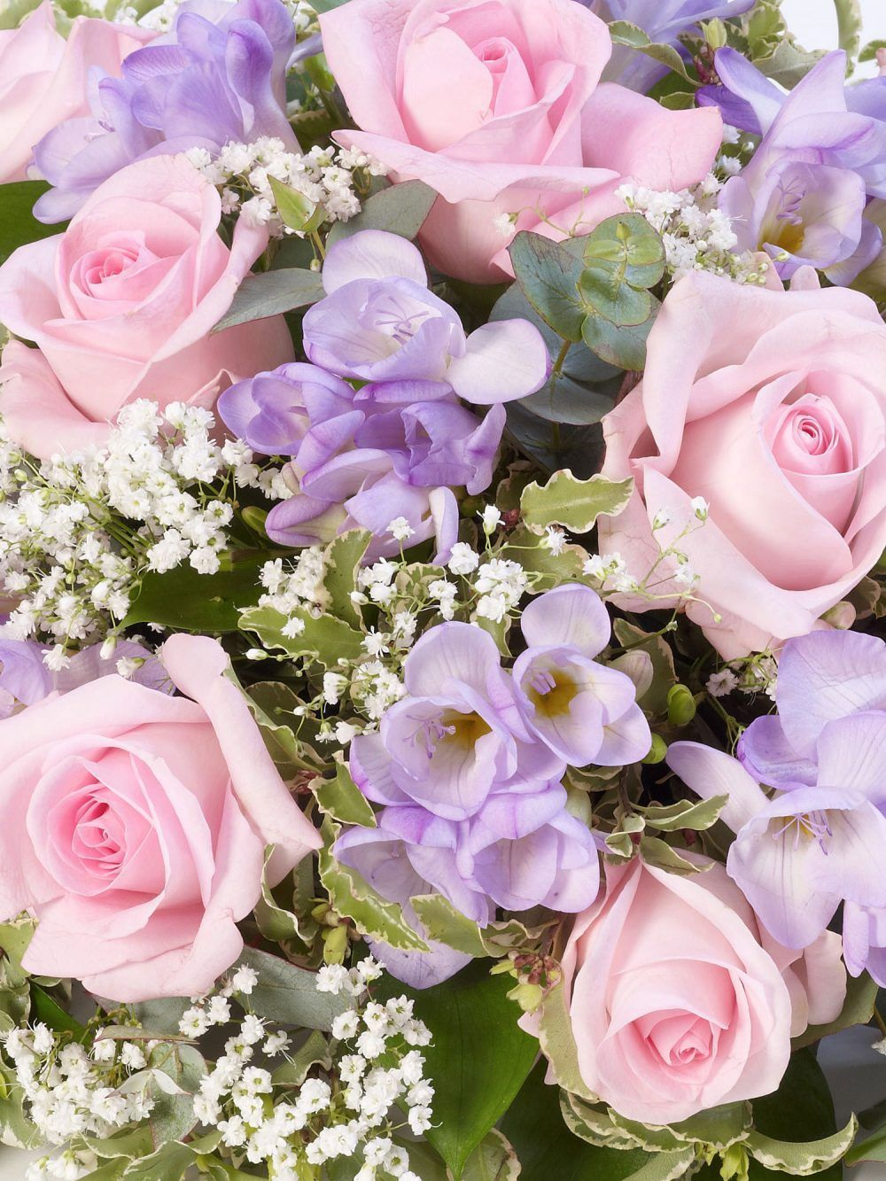 Rose And Freesia Posy Pink And Lilac 1
