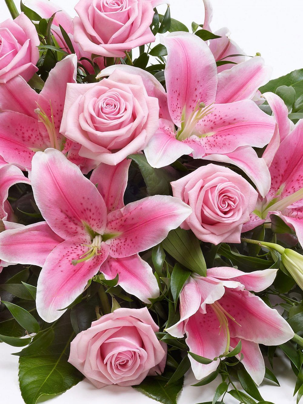 Rose And Lily Spray Pink1