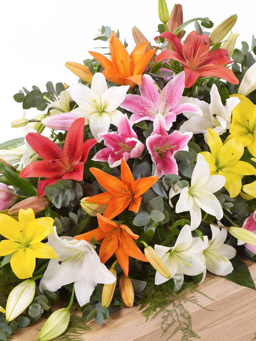 Lily Casket Spray Mixed Colours 1