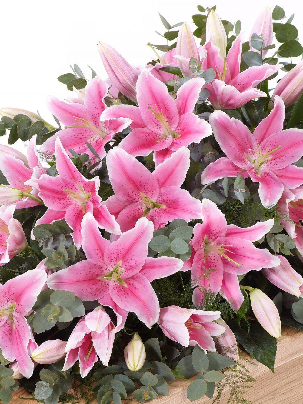 Lily Casket Spray Pink 1